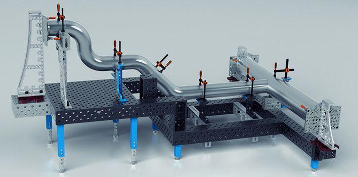 三维柔性焊接平台,采用cnc加工中心AAAA品质